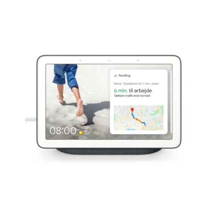 Google Nest Hub, Kalkhvid, Nordisk version - GadgetsShop