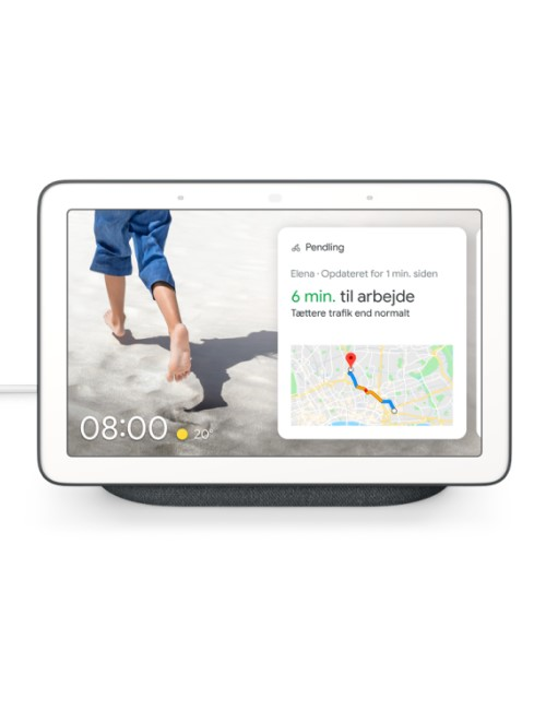 Google Nest Hub, Kalkhvid, Nordisk version - GadgetsShop