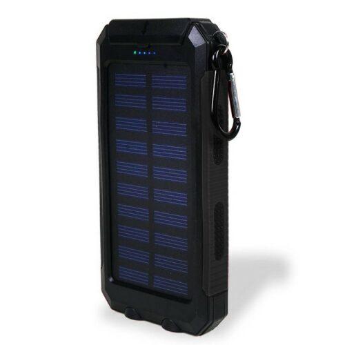 Powerbank med solcelle 10.000 mAh - Gadgetsshop