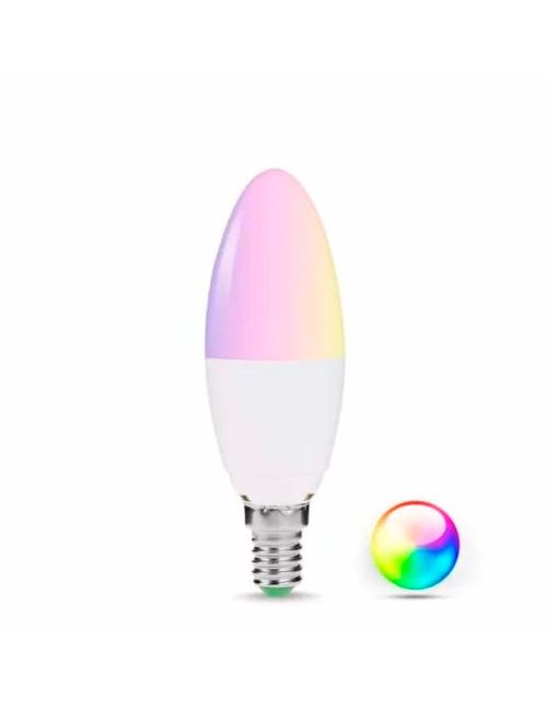 Homeo Smart Home WiFi Pære RGB E14 - GadgetsShop