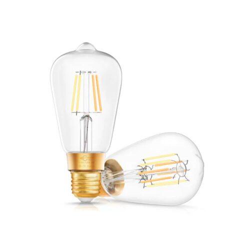 Homeo Smart Home WiFi lyspære Vintage Edison hvid (E27) 4,5W - GadgetsShop